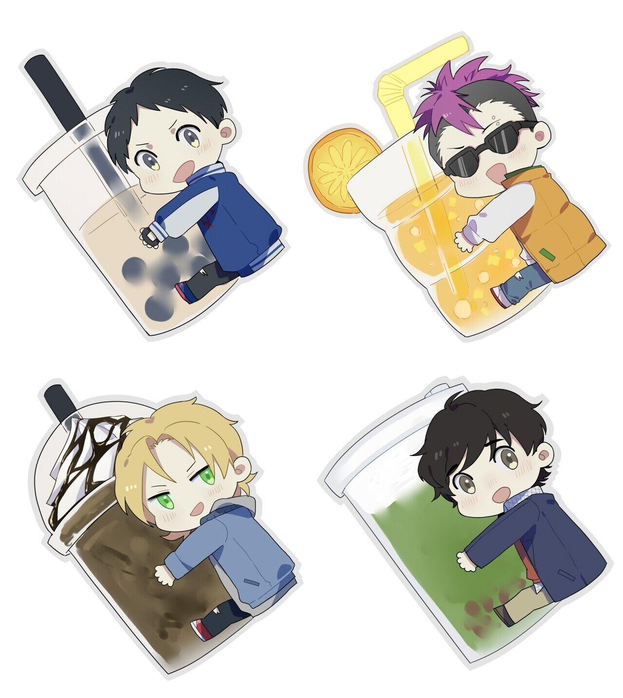 JAPAN Mangaka banana fish Ash Lynx Yasha Acrylic Keychain Wallet Keyring Rare N