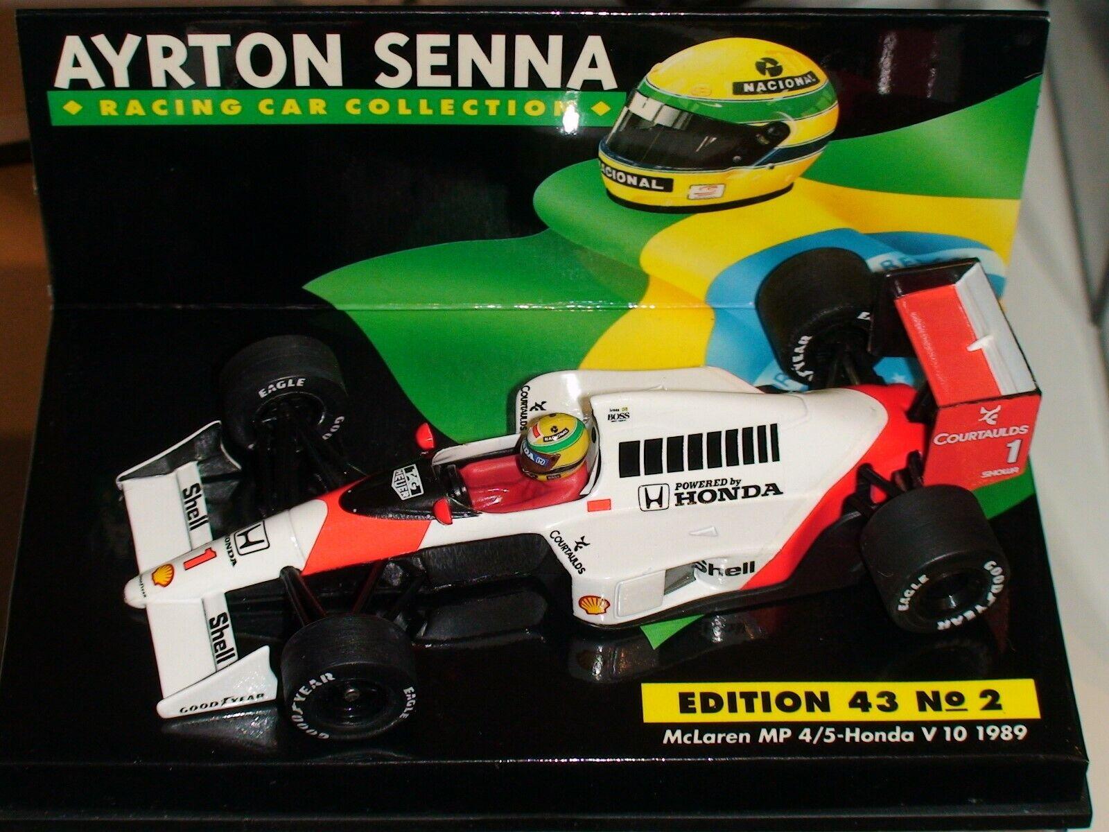1 43 Minichamps Ayrton Senna McLaren MP 4 5 HONDA V10 1989-ASC manches  2+