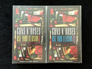 Guns-N-039-Roses-Use-Your-Illusion-I-amp-II-World-Tour-1992-Tokyo-VHS-PAL-VIDEO-x-2