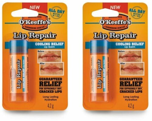 2x O /'Keeffe/'s Lip Repair Lip Balm Stick For Cracked and Dry Lips-Cooling Relief