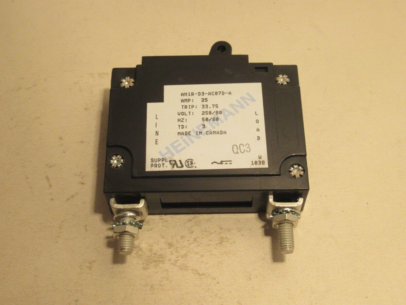 50 AMP 65VDC CIRCUIT BREAKER HEINEMANN AM1S-D3-A WARRANTY AM1S-D3-0050-03E