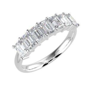 1-00-Carat-F-VS-Emerald-Diamond-Eternity-Ring-in-UK-Hallmarked-18K-White-Gold