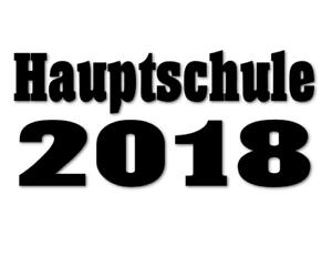 Hauptschule Aufkleber 20xx Schule Autoaufkleber 20cm Auto FUN decal 24 #8033