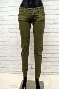 Jeans-ICEBERG-Donna-Taglia-Size-40-Pantalone-Pants-Woman-Slim-Skinny-Fit-Cotone