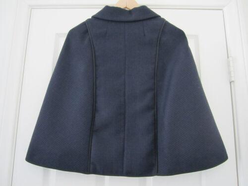 Lorna Nwt En En It40 4 0 Xs Cape Fabriqué Bleu Veste Laine Manteau 2 Italie Noir Bose fSqwSTd
