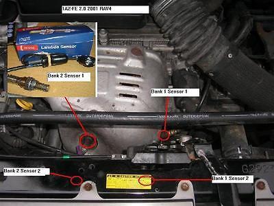 details about for toyota rav4 vvti p1155 a/f sensor heater circuit  malfunction lamba sensor