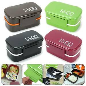 Plastic-Lunch-Box-Food-Container-Sandwich-Storage-Box-Double-Layer-Bento-Box-Set
