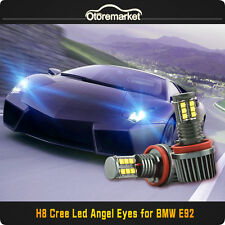 CREE LED Light 240W H8 Xenon 6000k Angel Eyes Halo Ring For BMW E60 E70 E90 E92