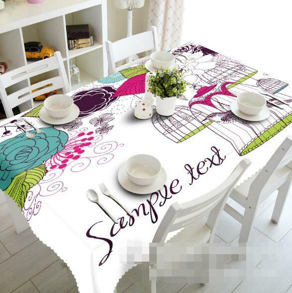 3D 3D 3D Birdcages 6 Tablecloth Table Cover Cloth Birthday Party Event AJ WALLPAPER AU 776063