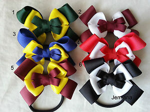 Jemlana-039-s-handmade-school-hair-ties-for-girls-Can-be-change-colour-of-ribbons
