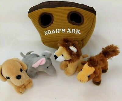Noah/'s Ark Plush Animal Sound Toys Carry Case Toddler Playset Toy Gift Noah