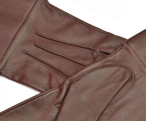 Brown Leather Gloves Long Arm Cuff Men/'s Medieval Renaissance