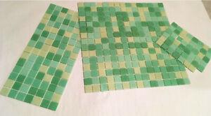 1,5 Tableaux De Nattes Original Bisazza Glasmosaik Vert-beige Mélange 32x32 Cm Neuf-afficher Le Titre D'origine Excellente Qualité