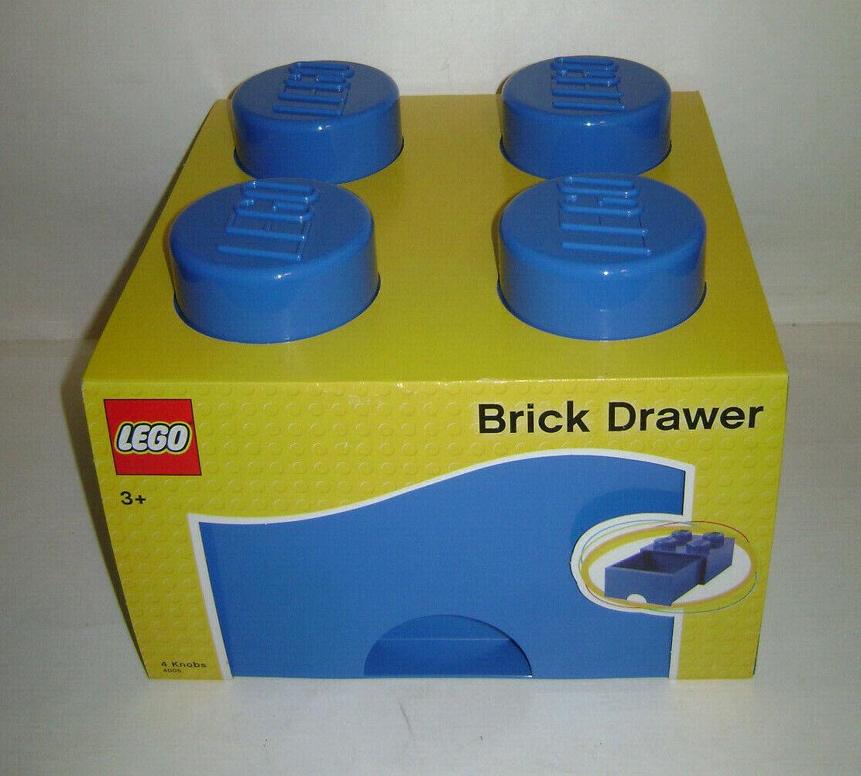 Nouveau  LEGO Boîte de rangeHommest Brique Tiroir 4 boutons voitureré bleu jouet ancien très rare un  bas prix