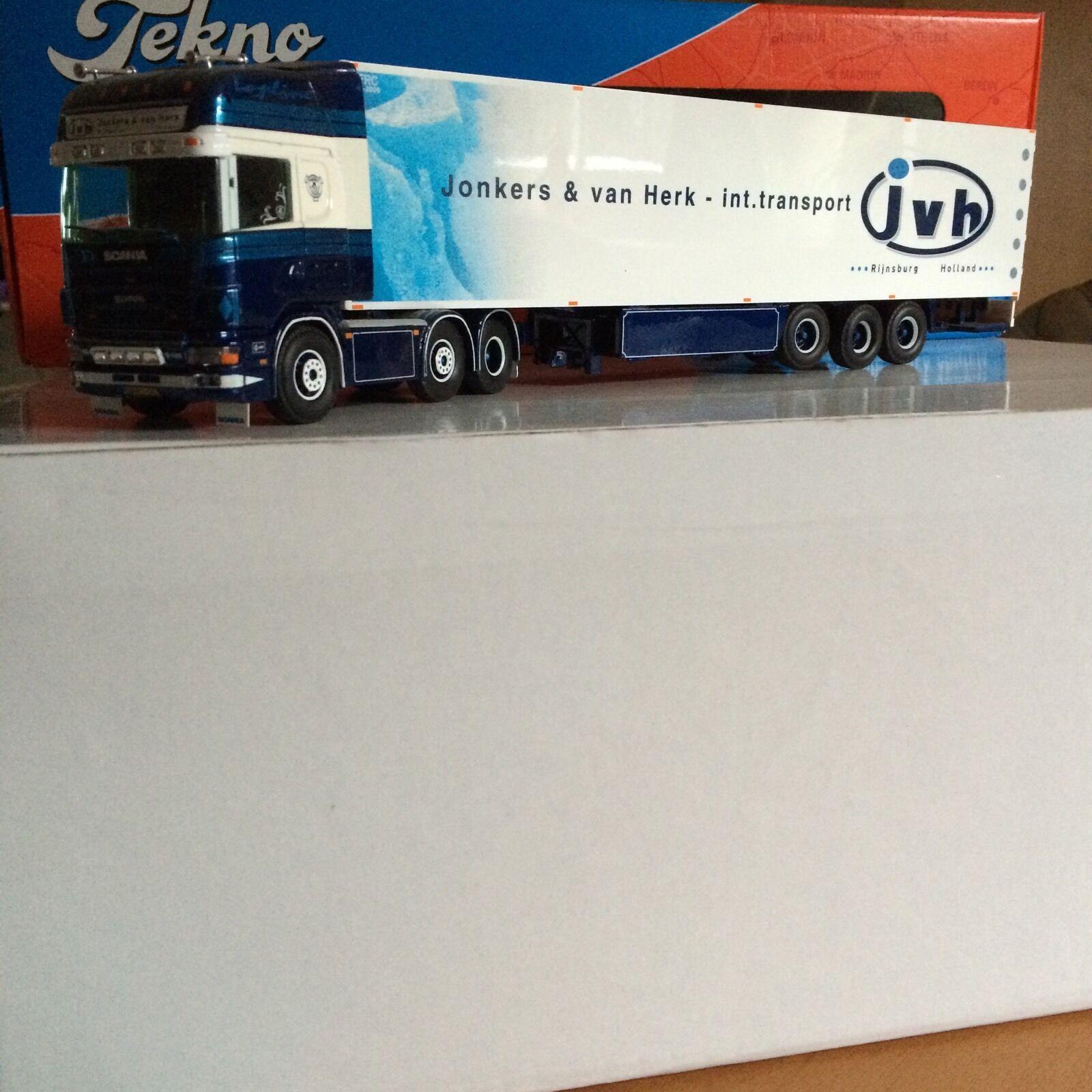 Tekno 1 50 Scania Topline Jonkers und van Herk JVH Sattelzug