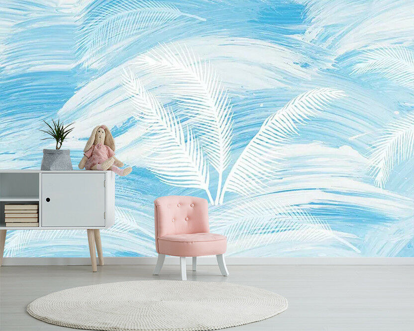 3D White Feather 31 Wall Paper Exclusive MXY Wallpaper Mural Decal Indoor