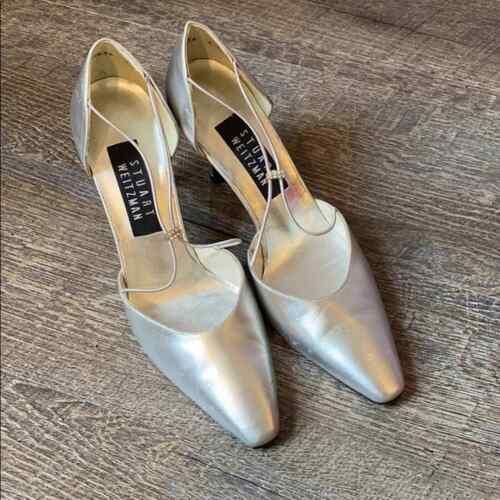 Stuart Weitzman Silver Heels 5W