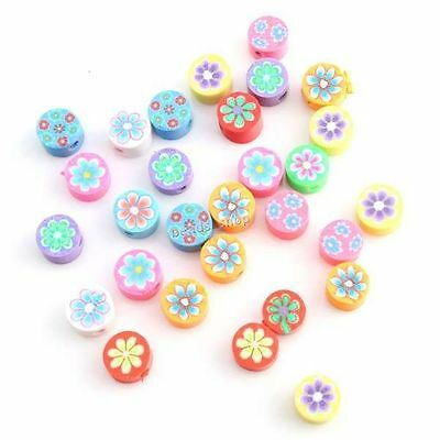 1000x 110938 Hot Selling Mixed Color Flower Columnar FIMO Polymer Clay Beads 6mm