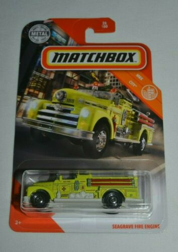 SEAGRAVE FIRE ENGINE YELLOW 26//100 MATCHBOX 2020  MBX CITY