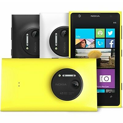 Nokia Lumia 1020 Windows 8 UNLOCKED GSM 32GB AT&T 4G LTE Smartphone - GOOD 8/10