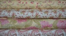lot de 4 coupons de tissu patchwork MODA Shabby assortis Jaune et Blanc  24x55cm