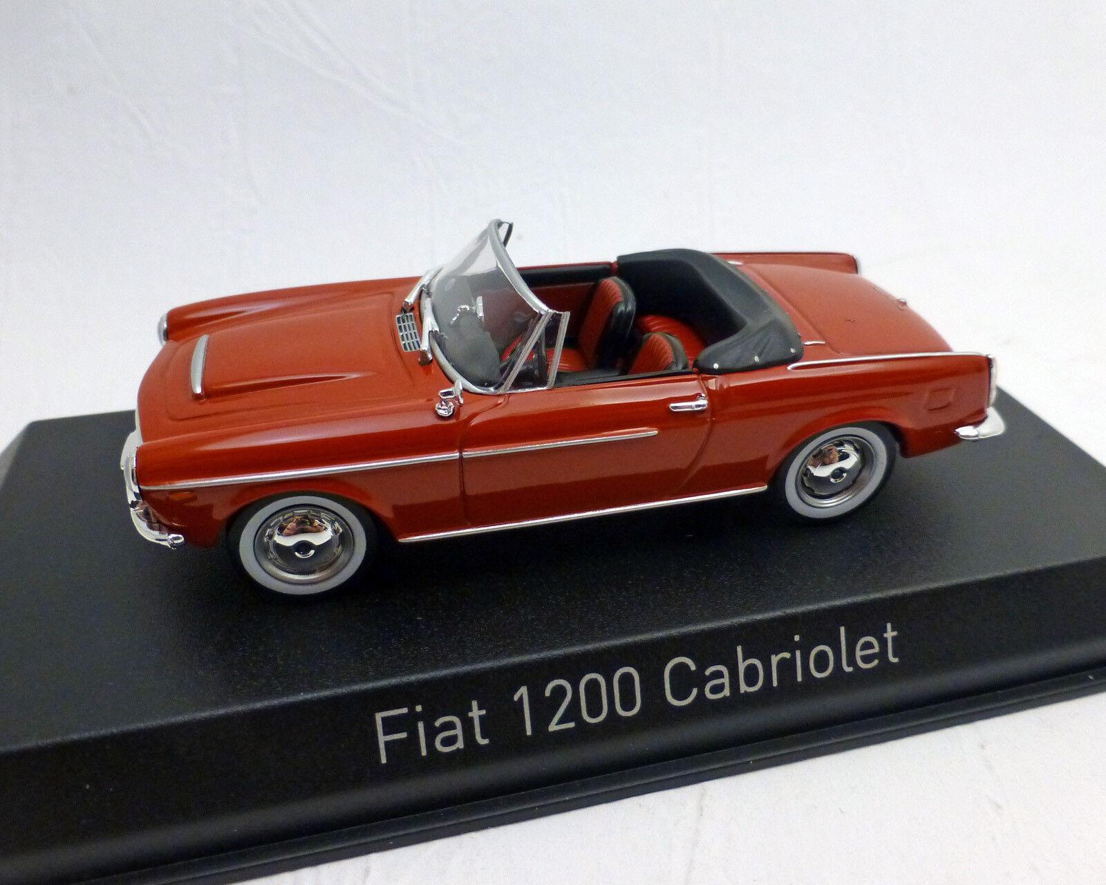 FIAT 1200 Converdeible, rojo, rojo, rojo, 1 43 , NOREV f096b4
