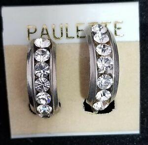 Vintage Earrings Diamante Back