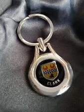 CLARK Clan Coat of Arms High Chrome Keyring Keyfob Gift Idea