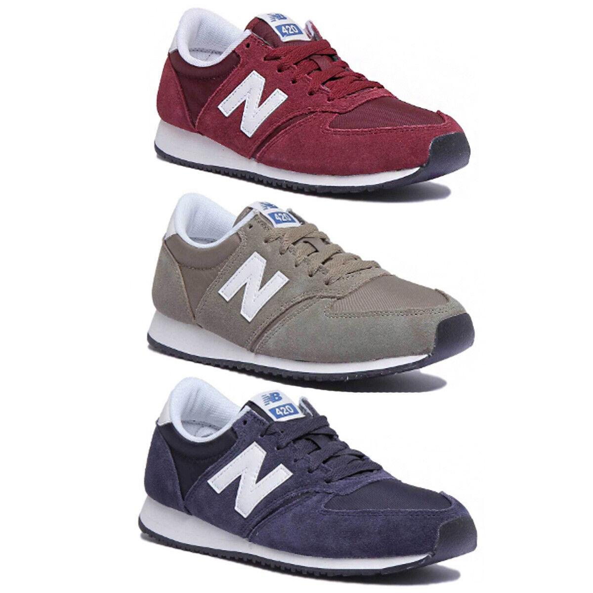 New New New Balance U420GRB Hommes en Cuir et Daim Vert Baskets 7.5-13 0514b4