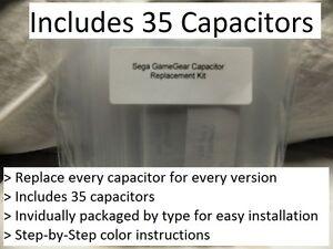 Sega-Gamegear-condensateur-de-remplacement-Kit-fix-no-Basse-Sonore-video-et-pauvres-Audio