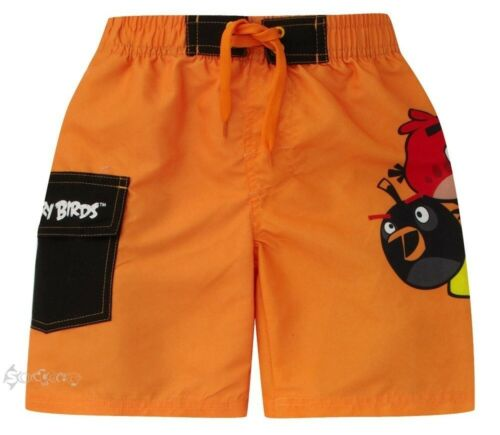 Boys Angry Birds Long Swim Shorts Ages 5-12 Years Summer Swimming Pool Trunks