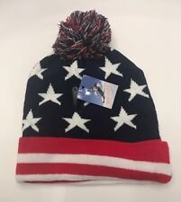 9574169061c item 1 Winter Hat American Americana USA Flag Cuffed Beanie Cap W Pom Pom  One Size New -Winter Hat American Americana USA Flag Cuffed Beanie Cap W Pom  Pom ...