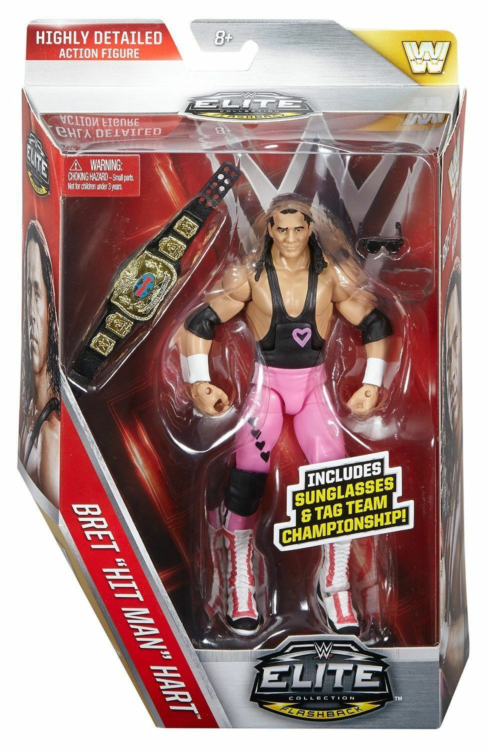 WWE ELITE 43 HART FOUNDATION BRET HART MATTEL WRESTLING FIGURE BRAND NEW BOXED