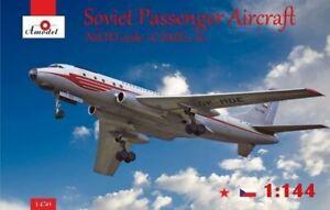 Amodel-1450-1-144-Tupolev-Tu-104-Aereo-di-Linea-Czechoslovakian-Nuovo