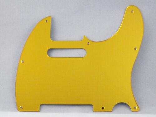 Bright MIRROR GOLD SCRATCH PLATE Pickguard to fit USA//Mex TELECASTER Tele