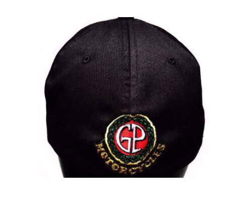 Ducati Text Logo Hat Black with GP Motorcycles Logo on Back L//XL