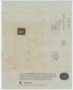 Fac-similÉ First Day Cover Housse De 1st Du 1st Timbre-poste En 1840 Par First Day Cover Museum Cheyenne