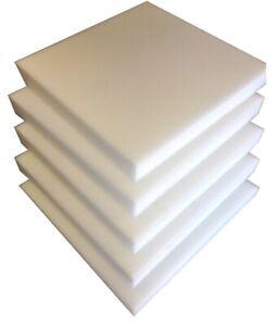 5 Plaques de mousse polyuréthane 40cm X 40cm  tapissier ameublement 3cm
