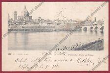 PAVIA CITTÀ 101 PONTE Fiume TICINO - LAVANDAIE Cartolina viaggiata 1900
