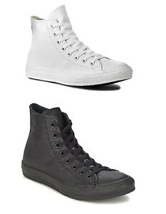befe5937f769 CONVERSE ALL STAR CT HI LEATHER - WHITE or BLACK - UNISEX TRAINERS ...