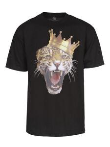 Mens-King-of-the-Jungle-Short-Sleeve-Black-T-Shirt