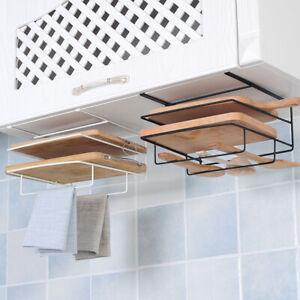 1x-Double-Layer-Kitchen-Storage-Rack-Large-Capacity-Space-saving-Hanging-Shelves