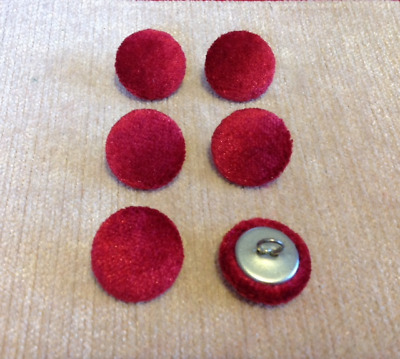 30l//17mm Nail Back Deep Purple Crushed Velvet Fabric Covered Upholstery Buttons