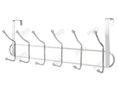 Over The Door Hook Chrome Finish Plated Hanger Use for Clothes Coat UK SELLER