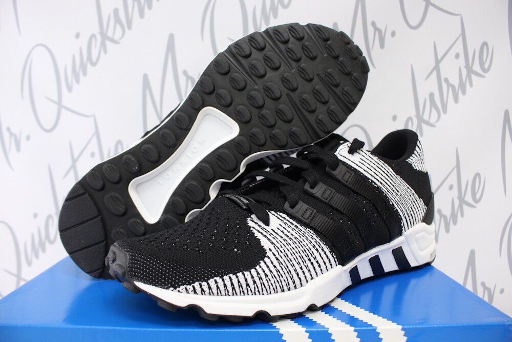 ADIDAS EQT SUPPORT RF PK SZ 10 CORE BLACK RUNNING WHITE PRIMEKNIT BY9689