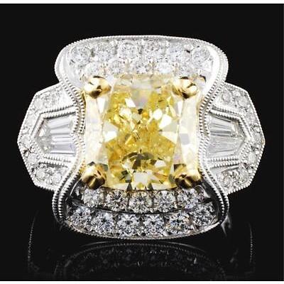 6. 18K White Gold 6.30ctw Fancy Color Diamond Ring Lot 6