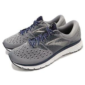 0ccbc6a44e0 Brooks Glycerin 16 2E WIDE Grey Navy Black Men Running Shoes ...