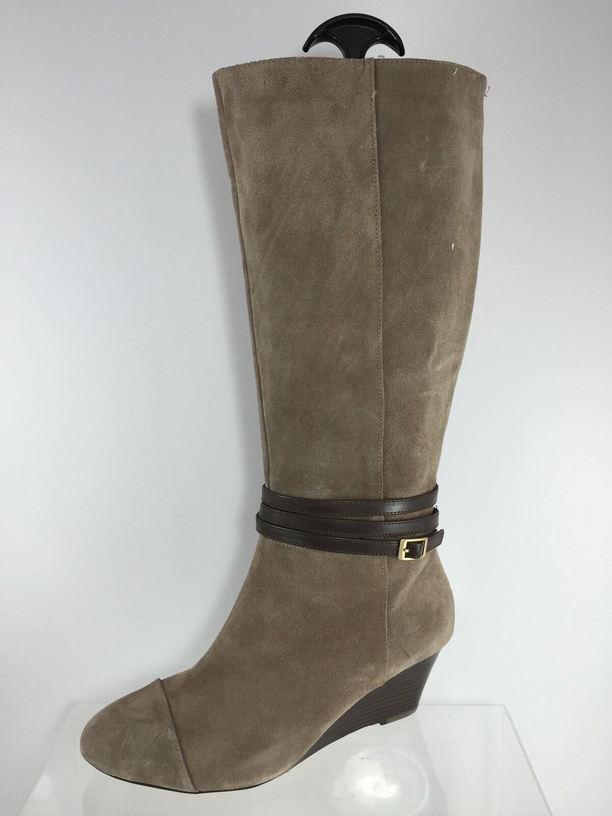 Julianne Hough Damenschuhe Stone Beige Leder Knee Stiefel 9.5 B