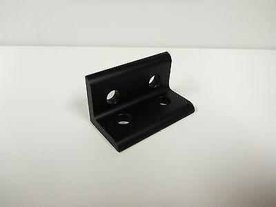 8020 Inc Aluminum 12 Hole Tall Inside Corner Bracket 15 Series #4414 Black D5-07