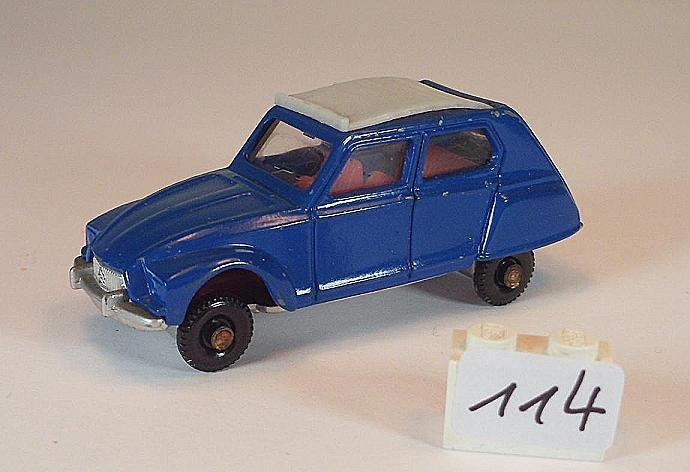 Best Box ca. 1 66 Nr. 2521 Citroen Dyane Limousine blau  114